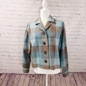 Pendleton plaid wool waist length jacket. Medium